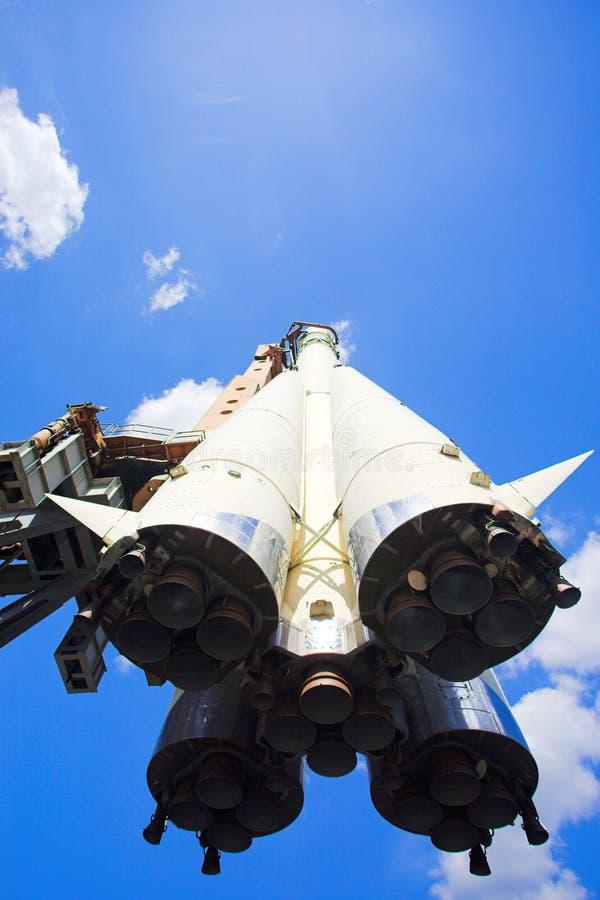 De raket van het ruimteschip stock afbeelding