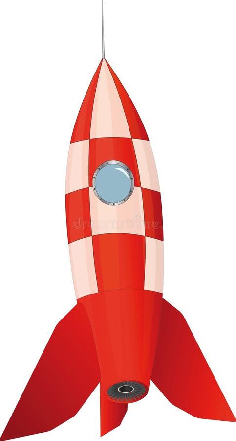 De raket van het stuk speelgoed royalty-vrije illustratie