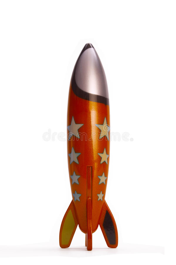 De raket van het stuk speelgoed royalty-vrije stock afbeeldingen