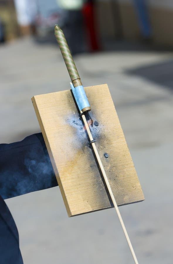 De raket van het vuurwerk stock afbeeldingen