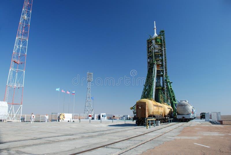 De raket van Soyuz stock afbeeldingen