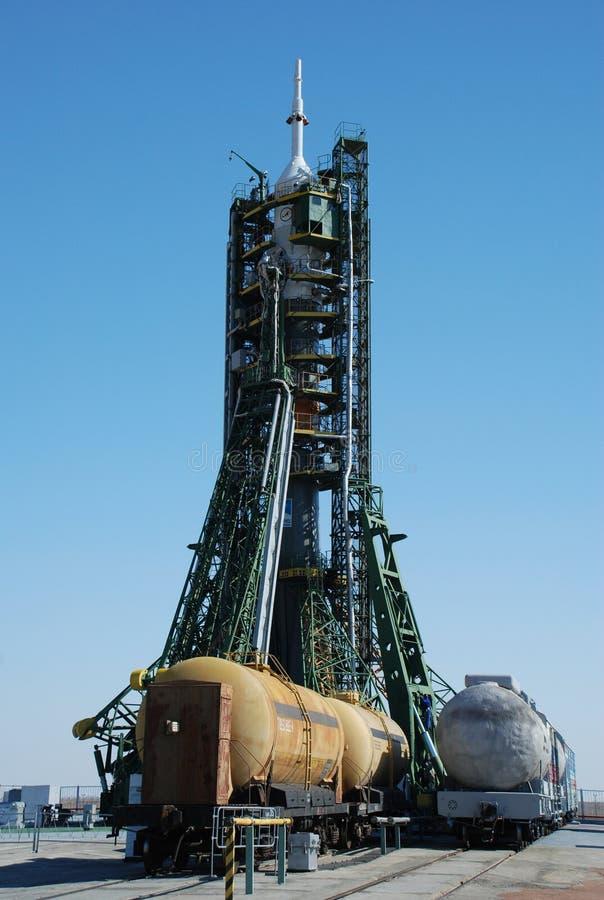 De raket van Soyuz stock afbeelding