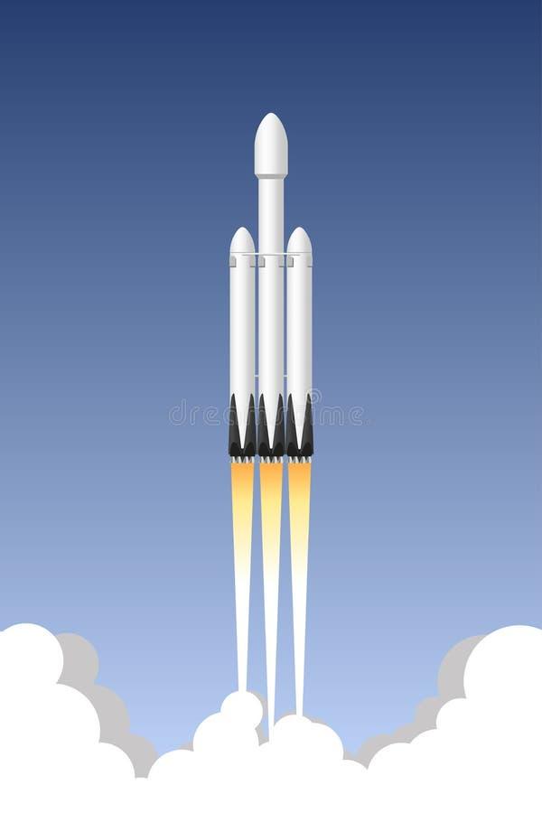 De raketdrager van de V.S. Pictogram Vectorillustratie vector illustratie