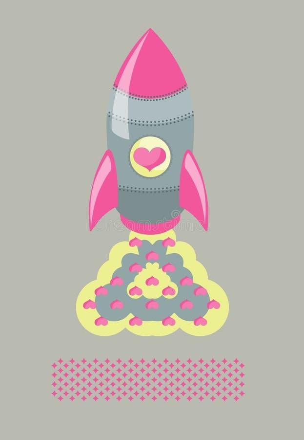 De Raketten van de Liefde van de affiche stock illustratie