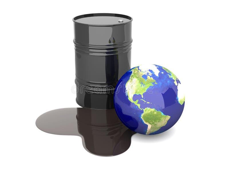 De ramp van de olie - Amerika stock illustratie