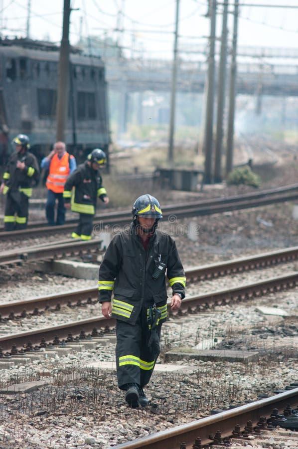 De ramp van de trein in Viareggio, Italië stock fotografie