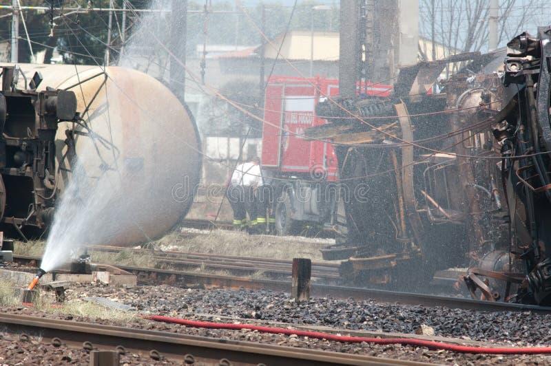 De ramp van de trein in Viareggio, Italië stock foto