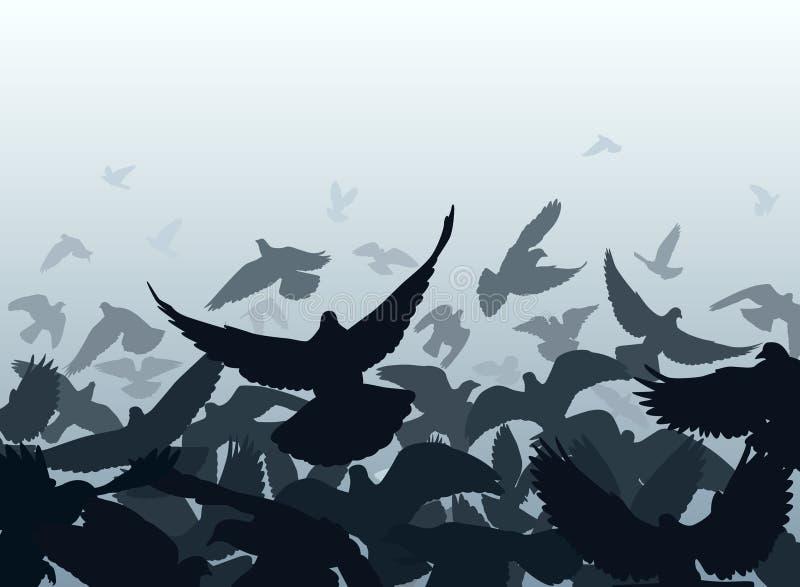 De rand van de duif royalty-vrije illustratie