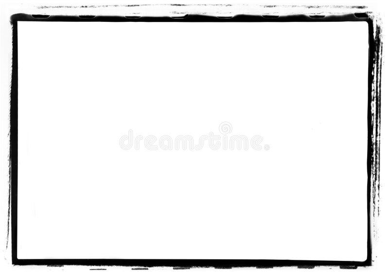 de Rand van de Foto Grunge van 35mm stock afbeelding