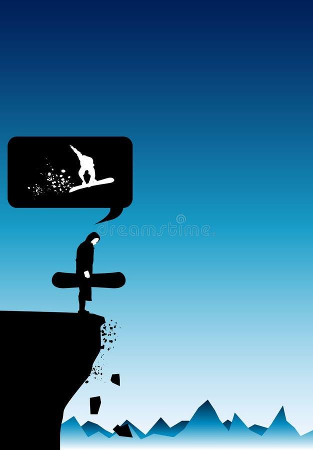 De Rand van Snowboard vector illustratie