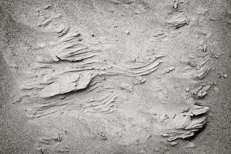 De Randen van het zand stock foto