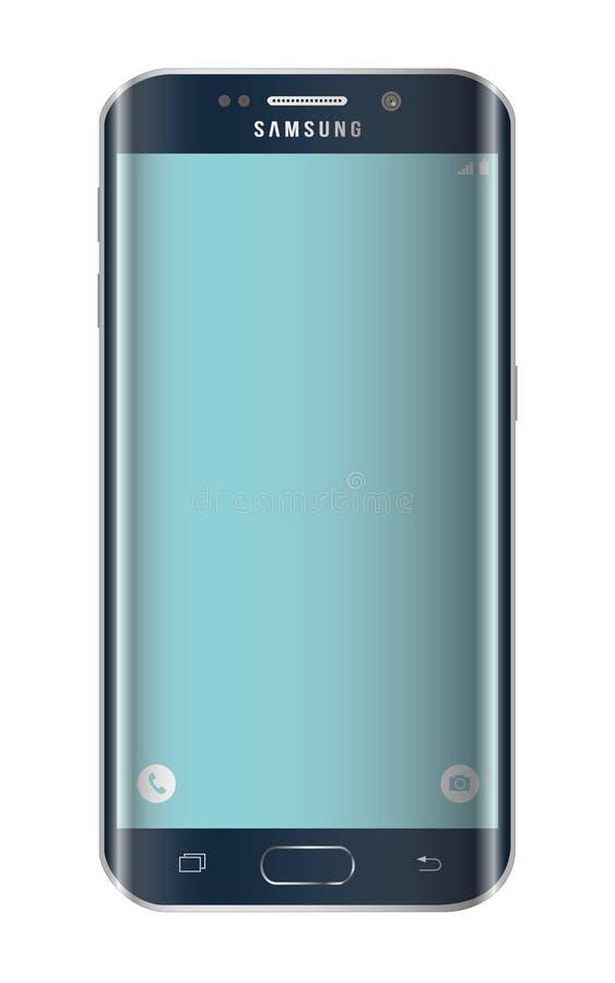 De randsmartphone van Samsung s6 vector illustratie