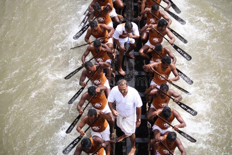 De rassen van de boot van Kerala royalty-vrije stock foto's