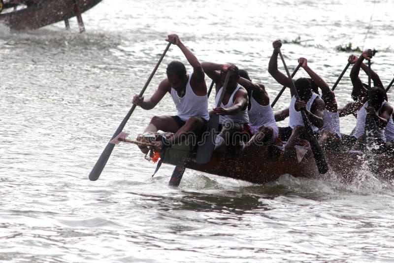 De rassen van de boot van Kerala stock fotografie