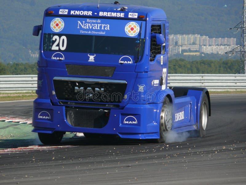 De rassen van de vrachtwagen royalty-vrije stock afbeelding