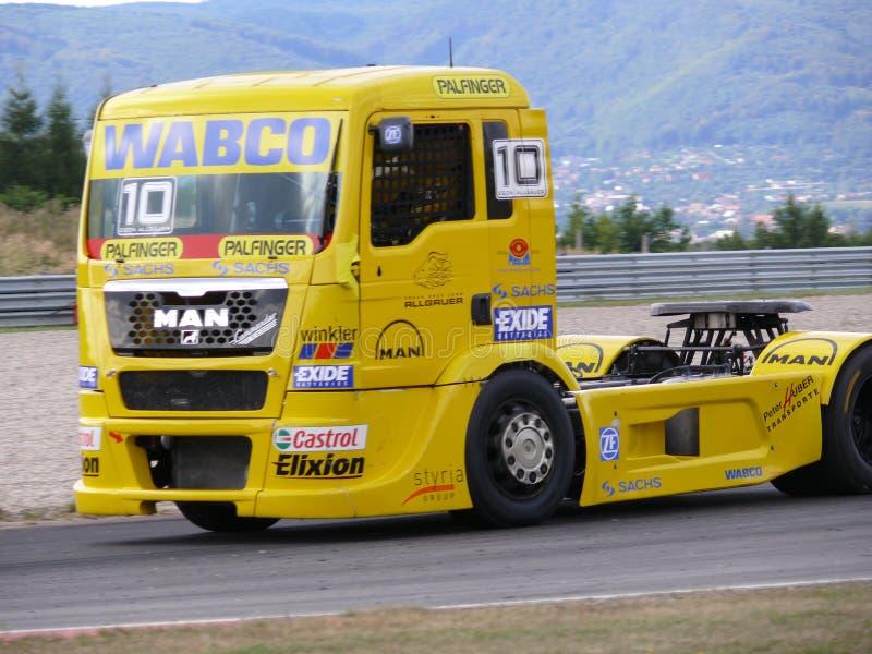 De rassen van de vrachtwagen royalty-vrije stock foto's
