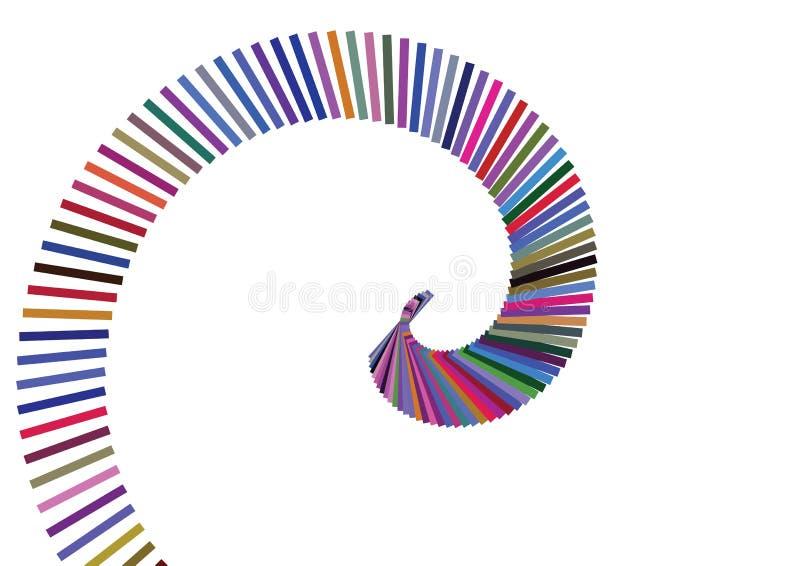 De rassenbarrière van de werveling vector illustratie