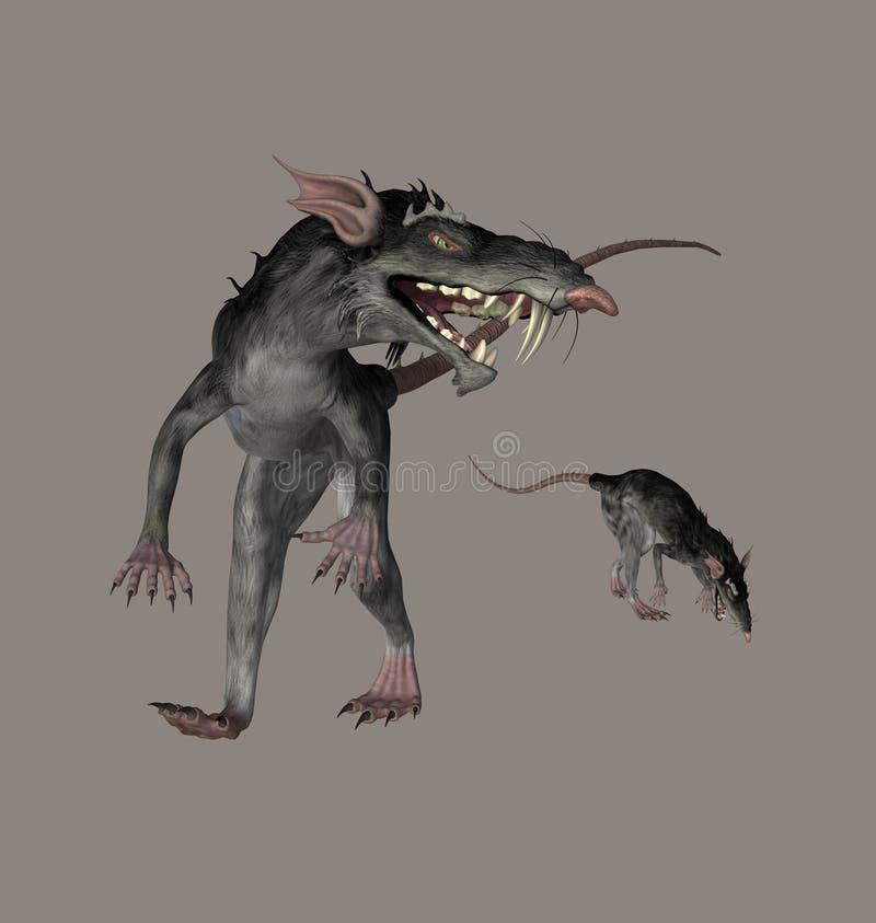 De Ratten van het monster vector illustratie