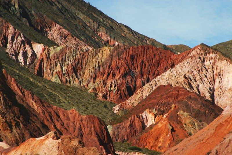 De ravijnen van de berg in Argentinië royalty-vrije stock afbeeldingen