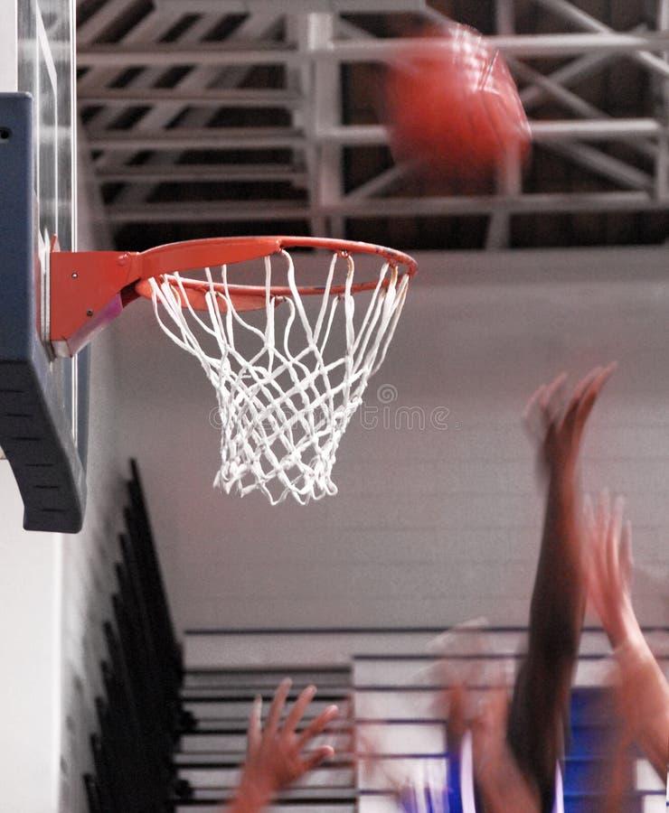 De Reactie van het basketbal stock afbeeldingen
