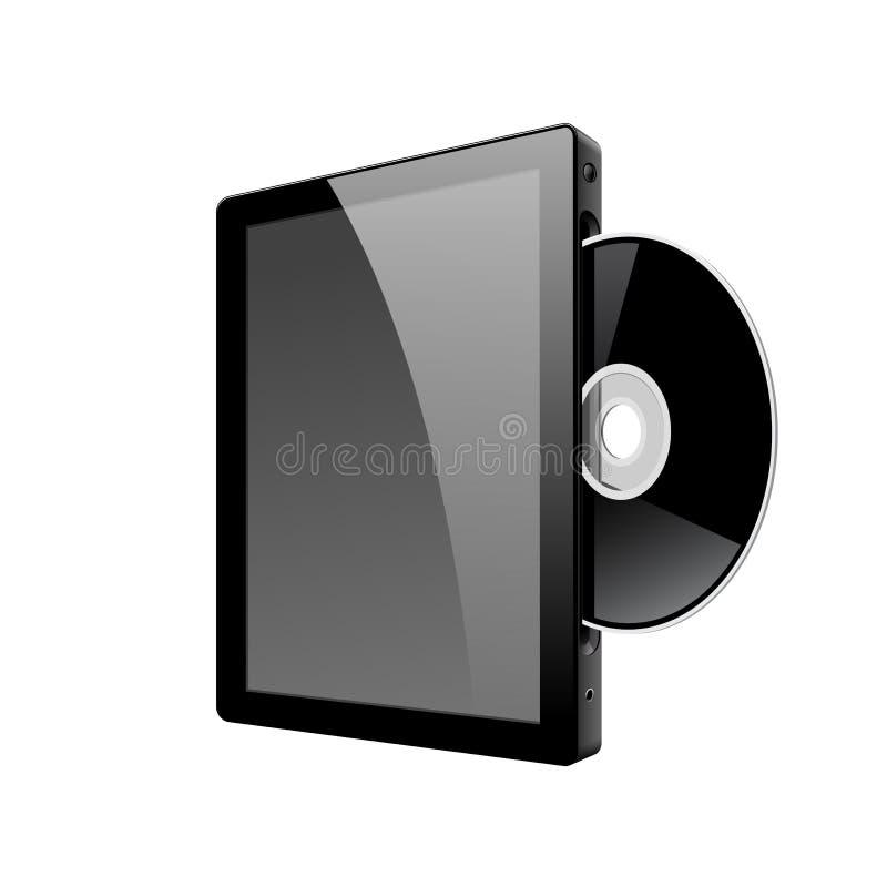 Download De Realistische Computer Van TabletPC Met Schijf DVD. Vector Vector Illustratie - Illustratie bestaande uit modern, gadget: 29501656