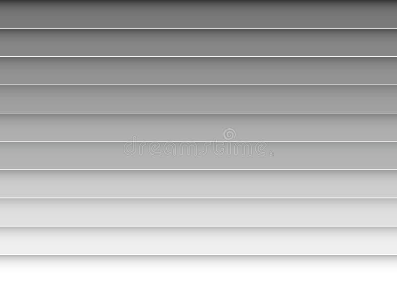 De realistische dichte omhooggaande vectorkunst van het rolblind, Garageblind, vensters, deur Kunststoftextuur royalty-vrije illustratie