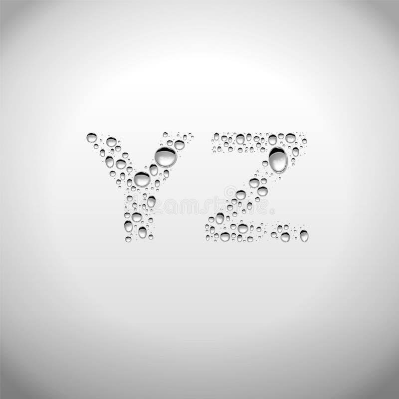 De realistische Doopvont van Waterdalingen van Y aan Z royalty-vrije illustratie