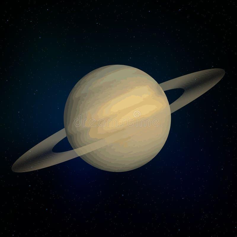 De realistische Planeet van Saturn royalty-vrije illustratie