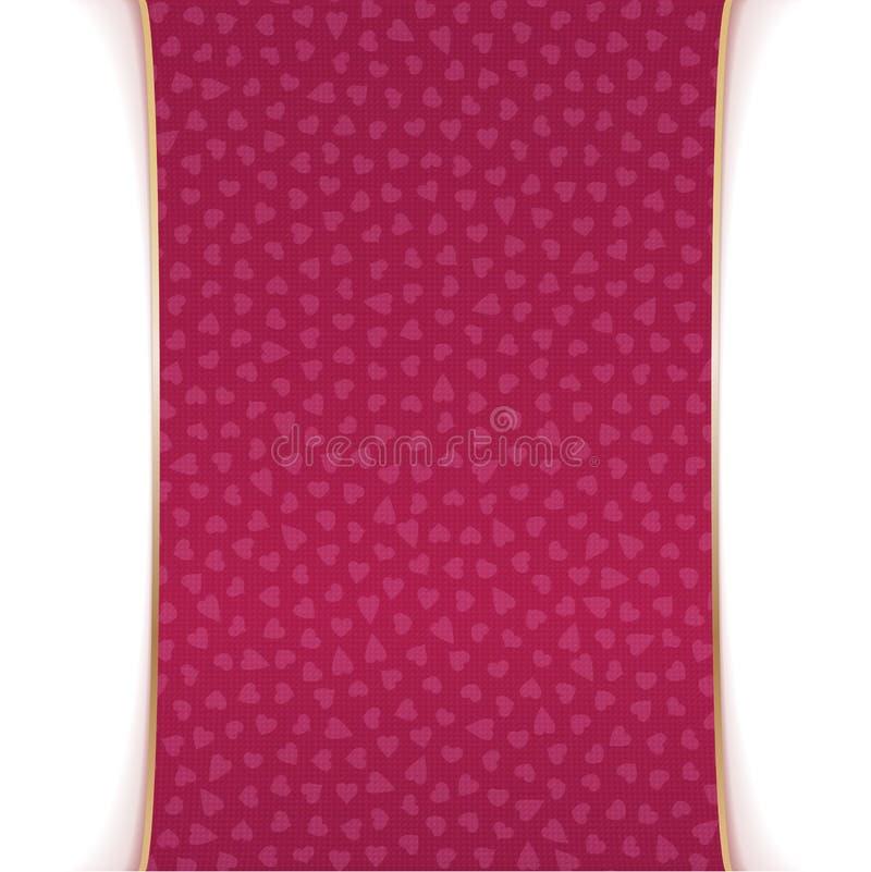De realistische roze en gouden Banner van de Valentijnskaartendag royalty-vrije illustratie