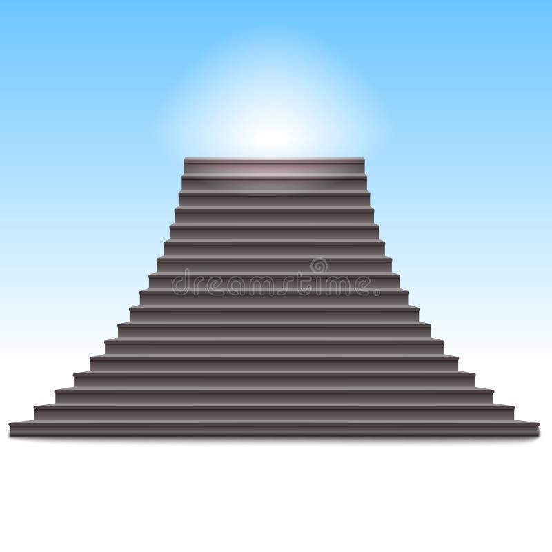 De realistische vectorillustratie van de steenladder vector illustratie