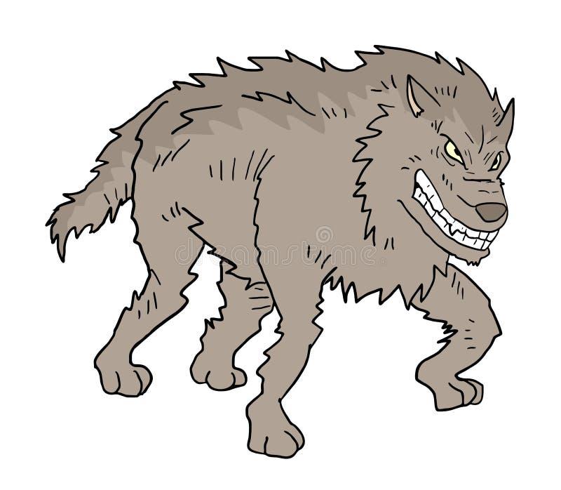 De rebellenwolf trekt stock illustratie