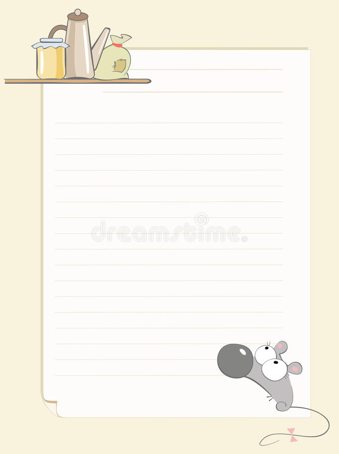 De recepten van de muis vector illustratie
