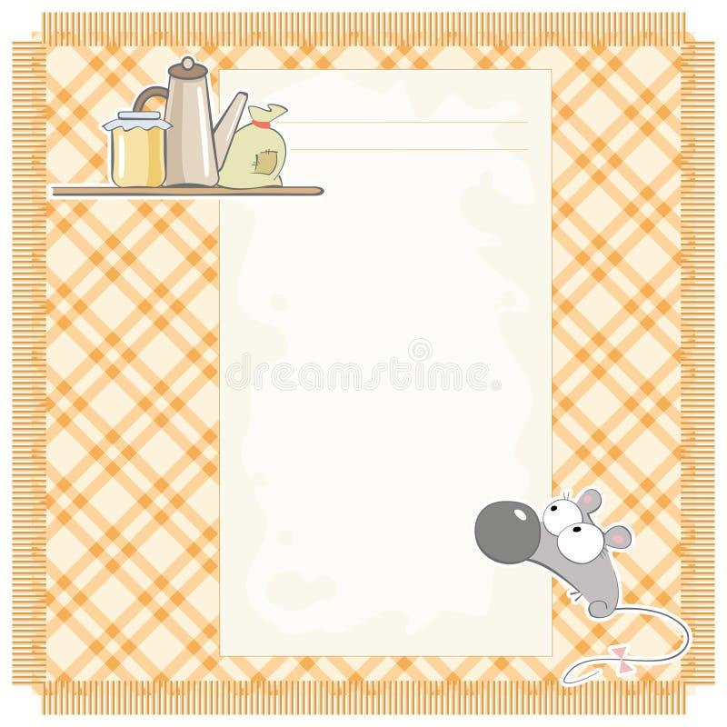 De recepten van de muis royalty-vrije illustratie