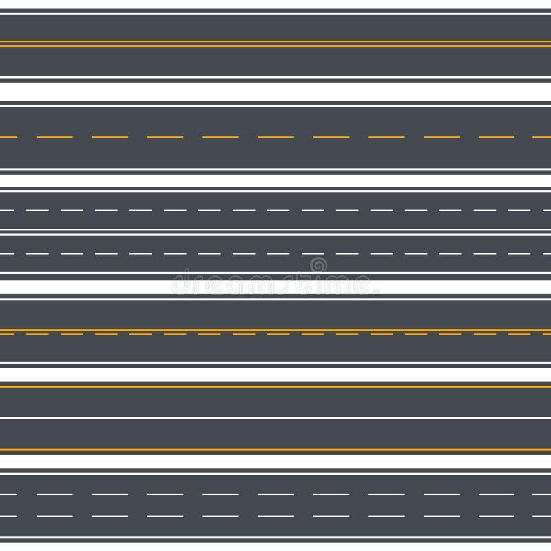 De rechte Achtergrond van het Wegen Naadloze Patroon Vector stock illustratie