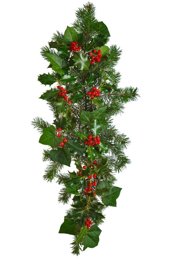De rechte geïsoleerdee slinger van Kerstmis. royalty-vrije stock afbeelding