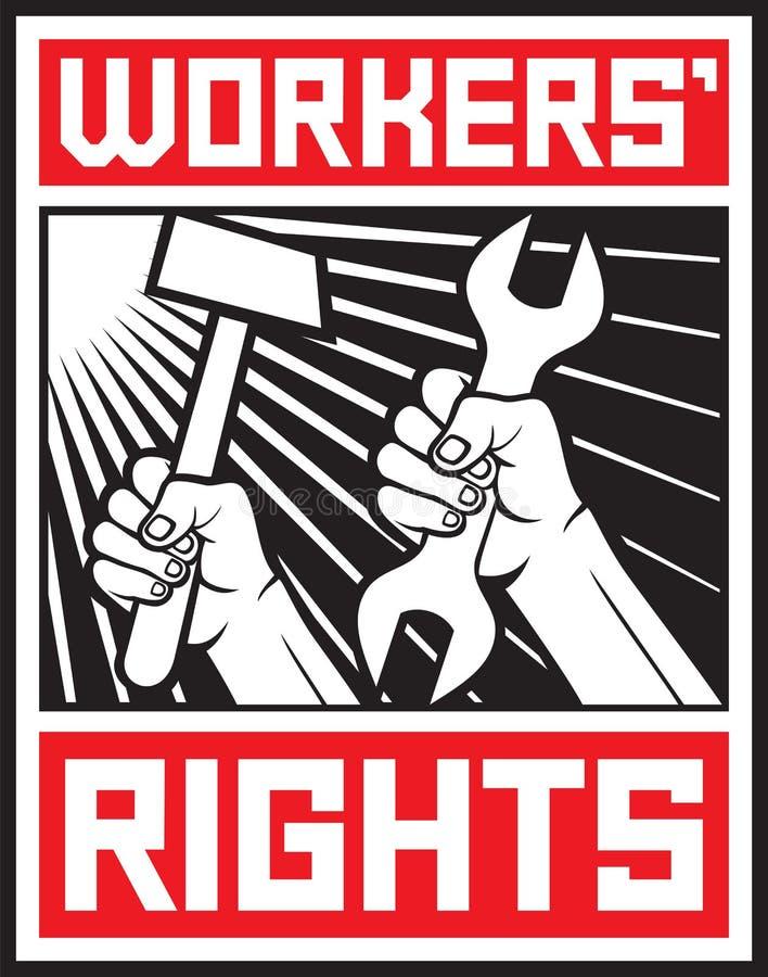 De rechten van arbeiders royalty-vrije illustratie