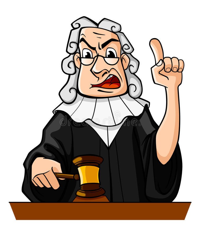 De rechter maakt oordeel royalty-vrije illustratie