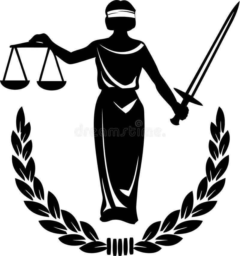 De Rechtvaardigheid van de wet stock illustratie
