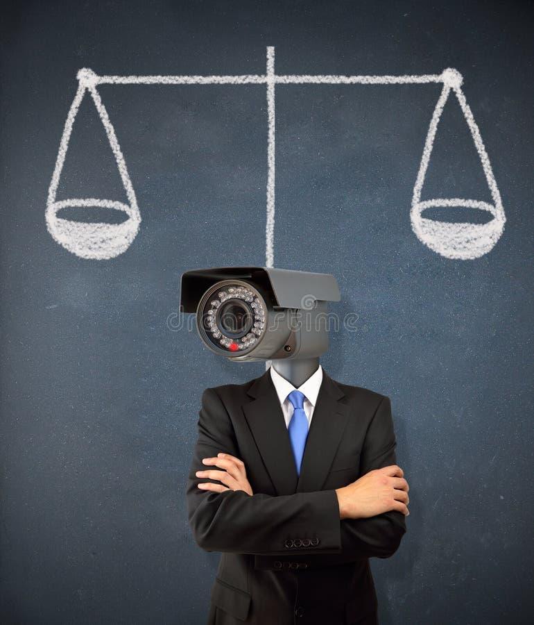 De rechtvaardigheid is voor allen stock afbeelding