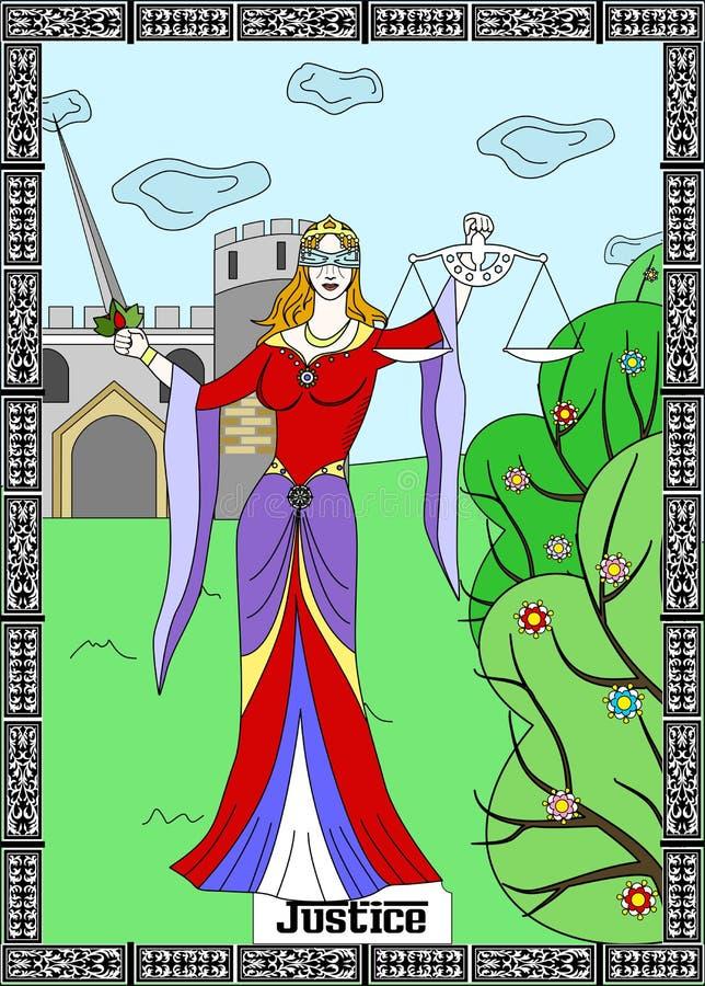 De rechtvaardigheidskaart royalty-vrije illustratie