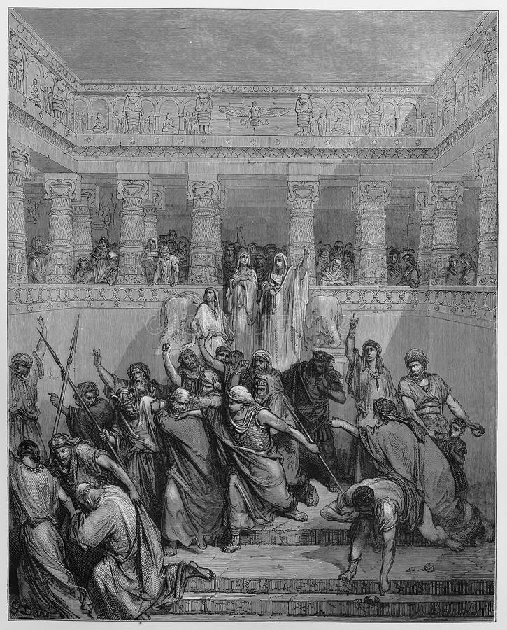 De Rechtvaardiging van Susanna royalty-vrije illustratie