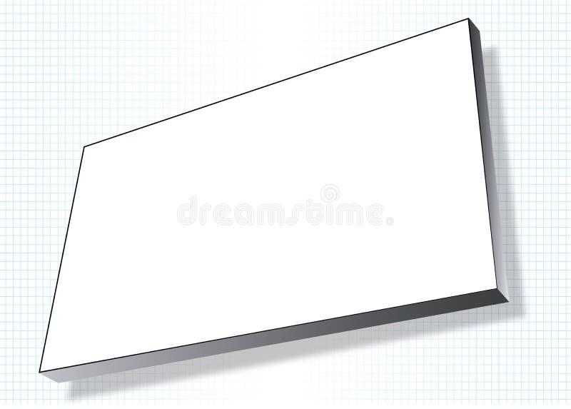 De reclame van banner op net stock illustratie