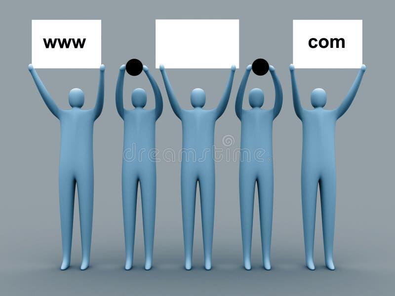 De reclame van het domein stock illustratie
