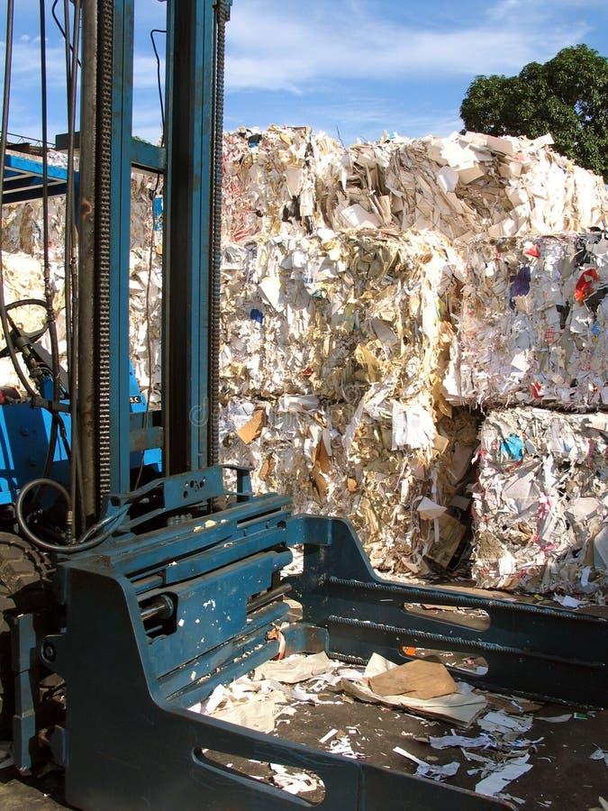 De recyclerende industrie van het document stock fotografie