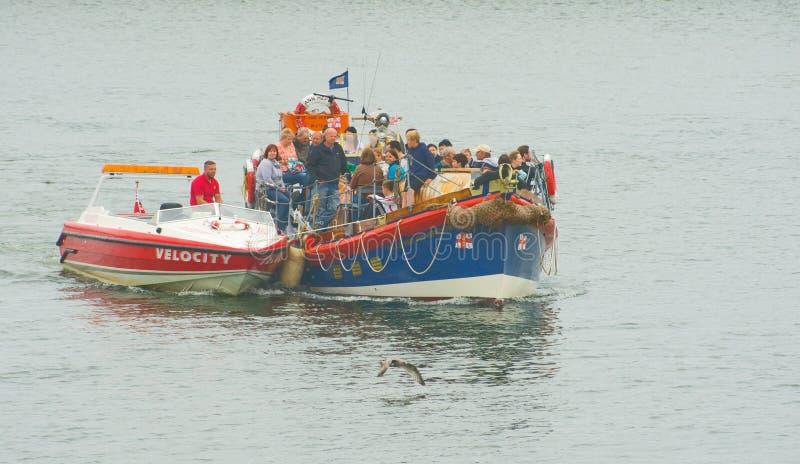 De redding van de reddingsboot in Whitby. royalty-vrije stock afbeelding