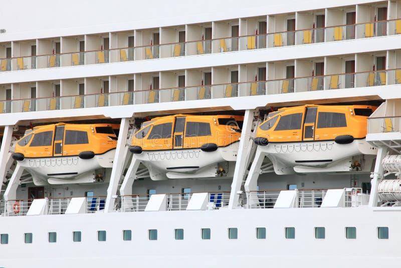 De Reddingsboten van het cruiseschip royalty-vrije stock afbeelding
