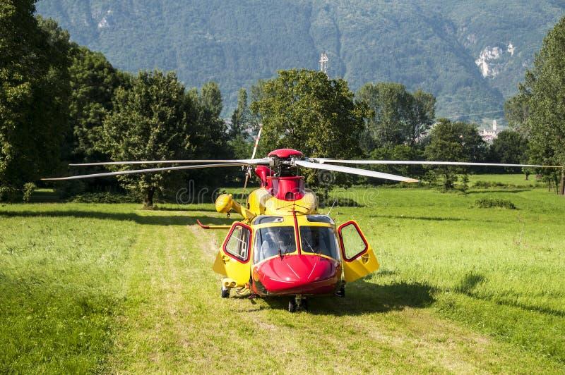 De reddingshelikopter van de noodsituatie royalty-vrije stock foto