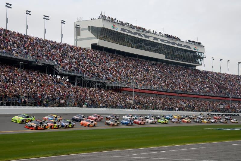 De Reeks Daytona 500 van de Kop van de Sprint NASCAR stock afbeelding