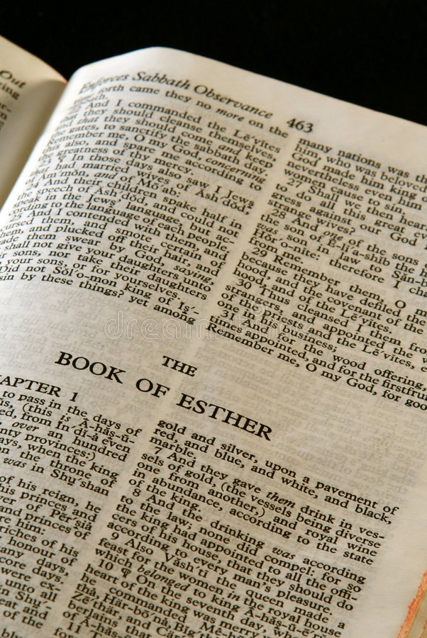De reeks Esther van de bijbel royalty-vrije stock foto