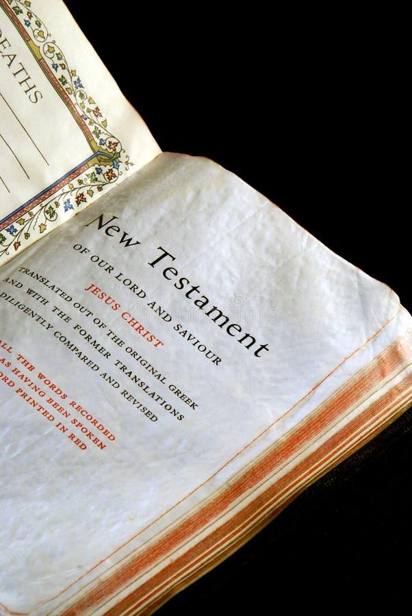 De reeks nieuw testament van de bijbel stock foto's